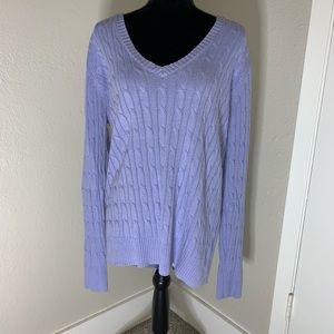 Lane Bryant Knit Pullover V Neck Sweater